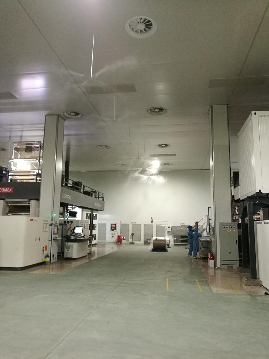 高压加湿器在印刷车间的应用